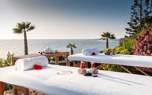 Outdoor massage at Sheraton La Caleta spa